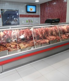 Expositor Refrigerado para Carnes Vidro Curvo