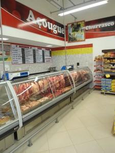 Expositor para carnes Vidro Curvo Refrigerado