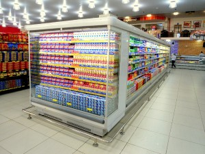Expositor central para Laticínios Refrigerado