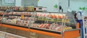 Expositor Refrigerado Aberto e Expositor Vidro Curvo para carnes embaladas