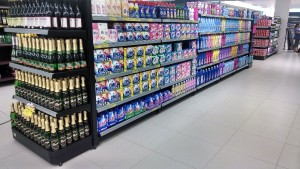 Gôndola para produtos de Limpeza