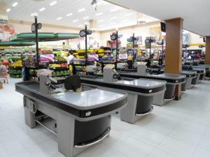 Check-out para Supermercado com esteira