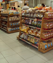 Expositor central para pães embalados