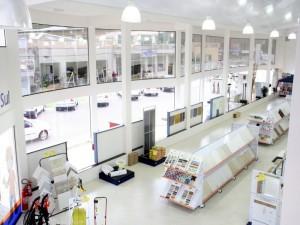 Gôndola central para pisos e azulejos