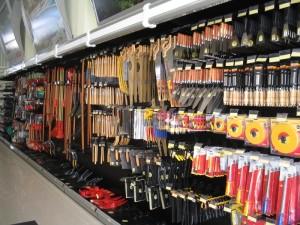 Gôndola lateral para ferramentas