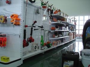 Gôndola central para ferramentas
